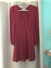 & Other Stories Red A Line Dress Long Sleeves Size 4