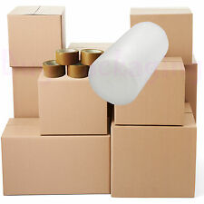 Large Removal Kit 40 X Cardboard Boxes House Moving Bubble Wrap & More Eg15