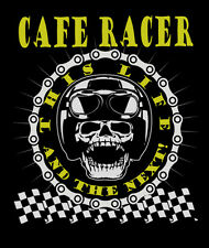 Cafe Racers T-Shirt Aged Look Biker 60's  Ace  3XL 4XL 5XL This Life & The Next!