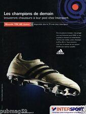 Publicité advertising 2002 Chaussures crampons magasins sport Intersport