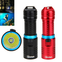 Diving Torch Underwater 100m XM-L T6 LED Scuba Flashlight Lamp Adjust Brightness