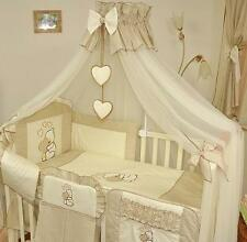 BABY CANOPY / MOSQUITO NET FITS COT/COT BED - 485 cm WIDTH/Cover 4 sides - BEIGE