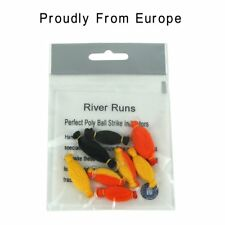 Riverruns 8 pcs NF Perfect Strike Indicators Nature Fiber, 4 colors 2 Sizes Hand