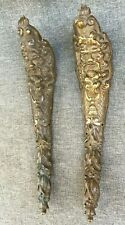 Big antique pair of furniture ornaments made of bronze France 19th century god