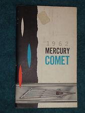 1962 MERCURY COMET OWNER'S MANUAL / OWNER'S GUIDE / GOOD ORIGINAL FIRST PRINTING