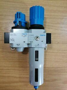 """Festo 3/8"""" Midi Air Pneumatic Filter Regulator Assembly LFR-D-Midi 162750"""