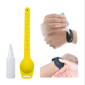 Portable Silicone Wristband Hand Soap Dispenser Bracelet With Filling Bottle