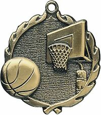 "PUD 1 3/4"" Basketball Neck Medal 32020, Free engraving"
