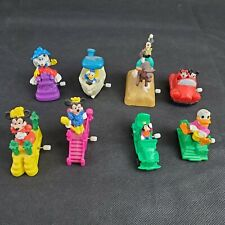 Mickey Mouse Character Wind Up Toys Vintage 90s Burger King 8pc Lot Kids Club