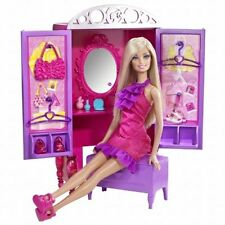 Barbie Dress Up To Make Up Closet and Doll
