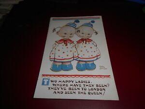 Vintage 'Mabel Lucie Attwell' Postcard by Valentine's Series Number 5137