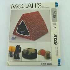 Pet Beds House And Dog Coats Sewing Pattern McCall's 8129 Uncut 1982 OOP