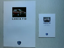 Prospekt Lancia Y 10 fire 1.1 i.e. Kat./LX, GT i.e. Kat, 11.1989, 12 S. + Preise