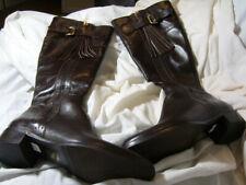 L.K.Bennett Brown Tassel Boots Women's Sz 37.5 Made In Italy Leatherette