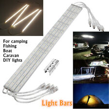 4x 12V Waterproof 5630 50CM LED Strip Light Bars Camping Boat Car Van Caravan