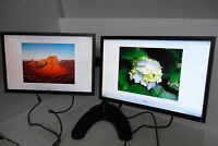 "ACER 22"" V223W V223WL V226WL Widescreen Dual Monitor VGA DVI 1680x1050 w/Stand"