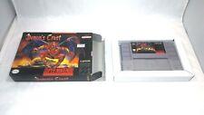 DEMON'S CREST (Super Nintendo Entertainment) Rare CART + BOX! Nice!! SNES
