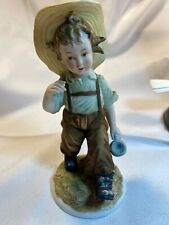 figurine lefton child walking with a mug. Kw4243 Hand painted. China.