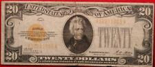 1928 U.S. $20 Gold Certificate Small Size Circulated Note