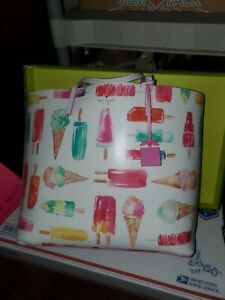 Kate Spade Francis Ice Cream Popsicle Large flavor of the month Tote  Purse
