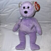 Ty Beanie Babies Retired 2008 Purple Mint 'Springer' Double Swing Tag in French