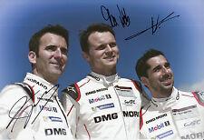 Neel Jani, Marc Lieb, Romain Dumas Hand Signed Porsche 919 Hybrid Photo 12x8 15.