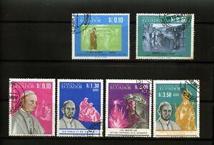 POPE PAUL VI  >>issue of 6  -ECUADOR 1966