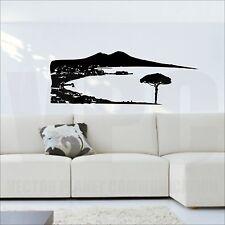 wall sticker vesuvio golfo di napoli adesivo muri vetro arredamento a207