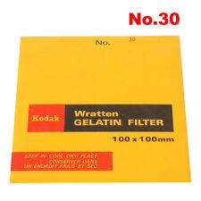 Kodak WRATTEN GELATIN FILTER 100 x 100 mm No. 30