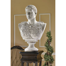 Grand Scale Roman Commander-In-Chief Caesar Augustus Home Gallery Bust Sculpture