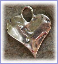 Organic Sterling Silver Sweet HEART Charm