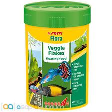 Fish Food Flakes Sera Flora Veggie Flakes 100 mL FAST FREE USA SHIPPING