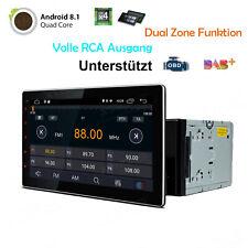 10,1 Zoll Quad Core Android 8.1 Doppel 2 DIN Autoradio Bluetooth GPS Navi DAB+