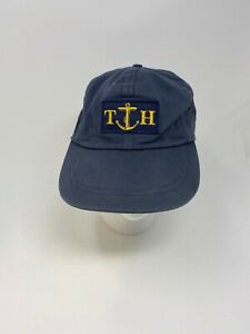 Vintage Tommy Hilfiger Sailing Anchor Hat  Made In USA RARE Navy Blue