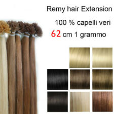 50 EXTENSION CIOCCHE 1 gr CHERATINA 62 cm Remy hair capelli umani VERI 100%