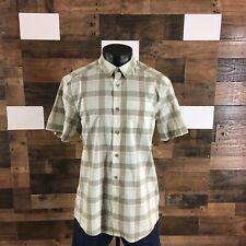 "Men's ARC'TERYX Shirt 👉 (""STAIN"")👈 Plaid Short Sleeve Button Front Stretch"