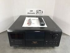 Sony CDP-CX200 200 CD Compact Disc Changer/Player W/Remote, Cables - Serviced!