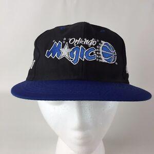 Licensed NBA Orlando Magic Snapback Baseball Cap Hat Black Blue Embroidered