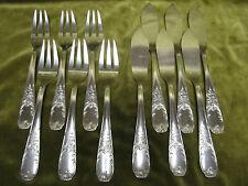 6 couverts à poisson métal argenté mod LXV rocaille (fish forks & knives)