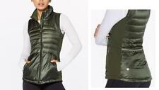 NWT New LULULEMON Down For A Run VEST II/ Jacket Top - Gator Green/ Women 6 +Bag