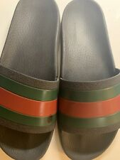 Authentic GUCCI Red/ Green Rubber Slide Pursuit Sandal Pool Size 8