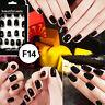 24pcs Nail Tip Artificial False Acrylic Design Fake French Full Nails Art ES