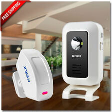 Wireless LED Flash PIR Motion Detector Alarm 32 Songs Welcome Doorbell System