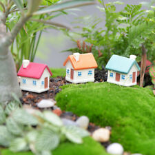 Miniature Small House with Window Micro Landscape Craft Fairy Decor Set of 3