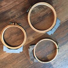 3 MELCO Wood Embroidery Hoops