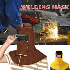 Leather Welding Hood Helmet Welder Mask Safety Protector Cap
