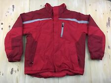LL BEAN - Mens Red Ski Snow Coat, Media Pocket, Goggle Wipe, Insulated, XL