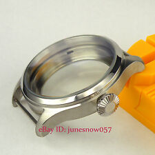 47mm Parnis Big crown Fit 6497 6498 movement stainless steel watch case C6