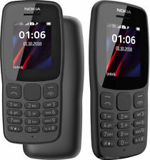 BRAND NEW Nokia 106 Dual Sim 2018 Dark Grey With LED Torch - FM Radio-Big Button