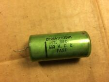 Vintage Fast Oil Capacitor .25 uf 600v guitar tube amp Pio cap Tested Good